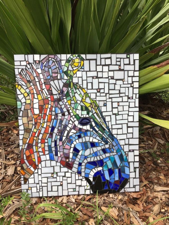mosaic zebra