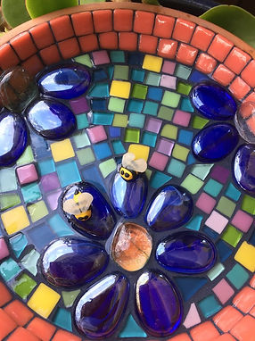mosaic bee bath