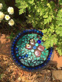 mosaic bee bath
