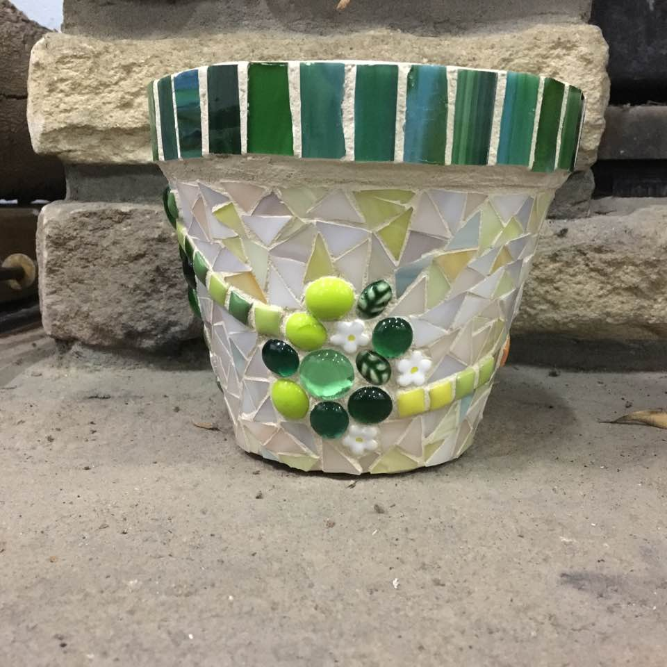mosaic Cute pot