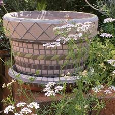 Mosaic garden pots