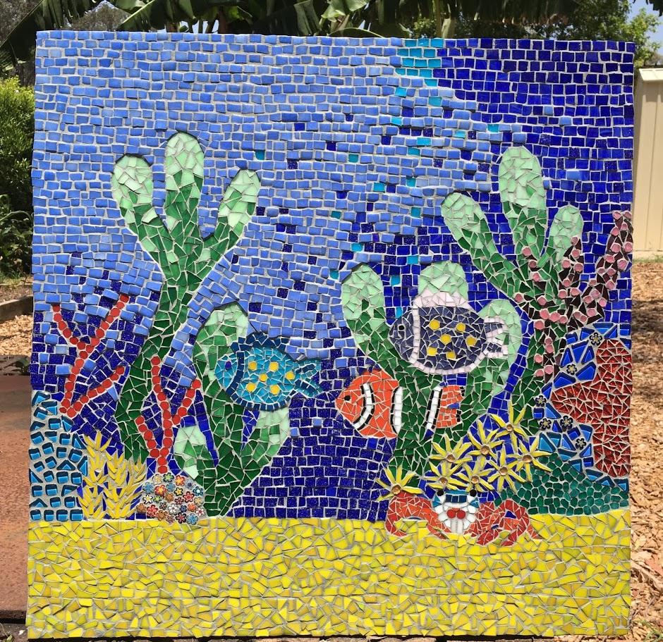 mosaic underwater