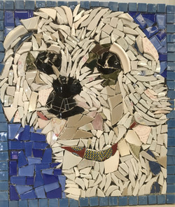 mosaic dog picassiette