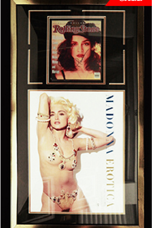 Madonna RS548 and Erotica poster *Signed