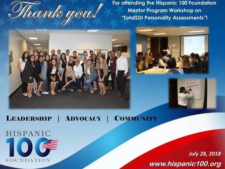 TotalSDI and Leadership Development at the Hispanic 100 Mentor Program