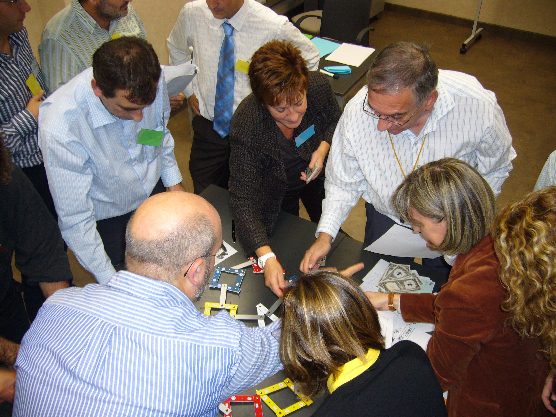 Participantes en un momento de planificación