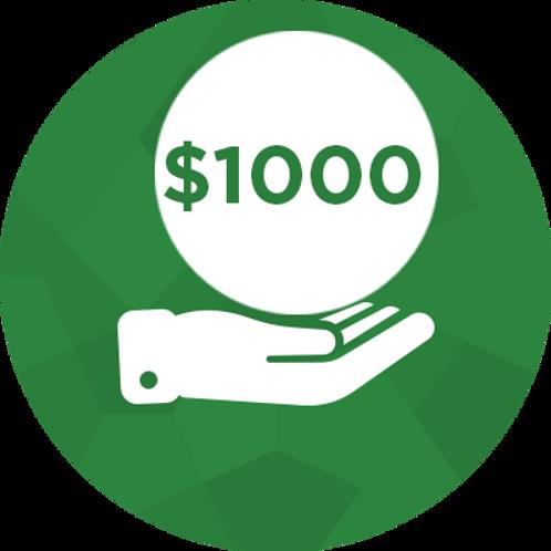 Donate- $1000