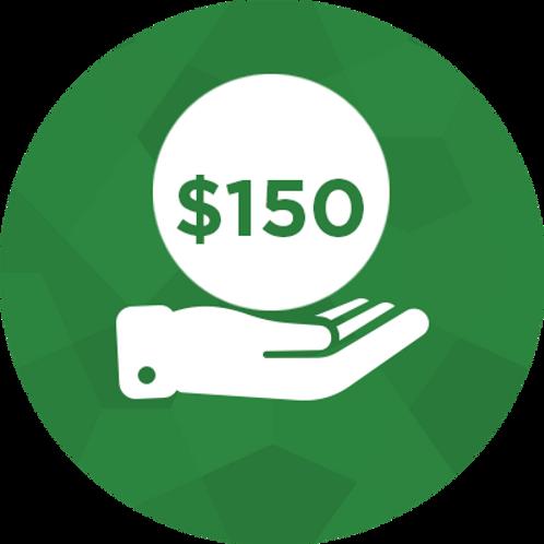Donate- $150