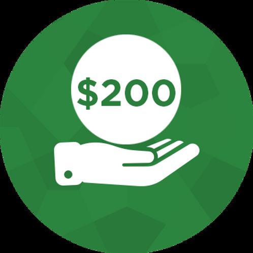 Donate- $200