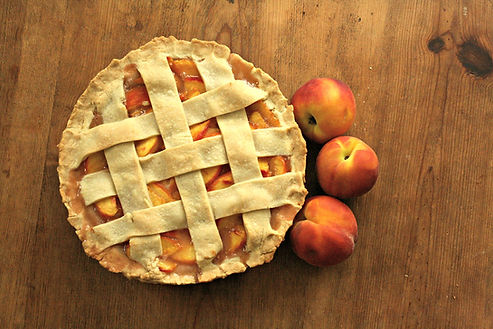 Peach Pie whole ripe peaches