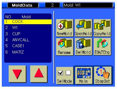 3. Mold File Screen