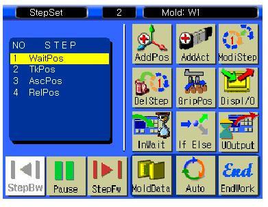 4. Step Set Screen