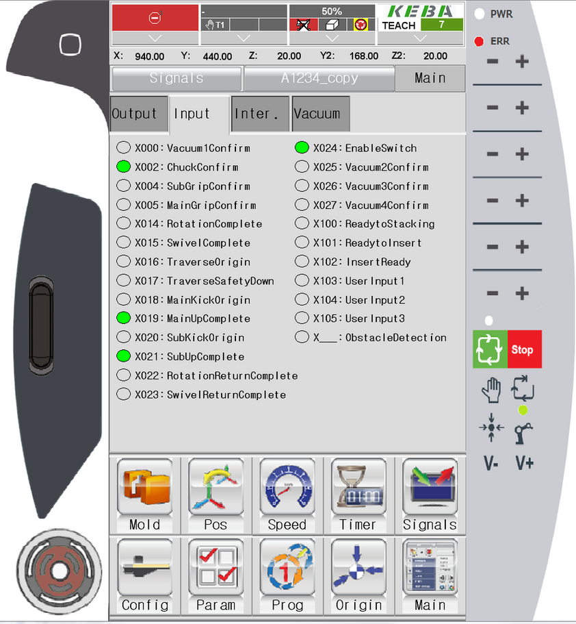 6. Input/Output Screen