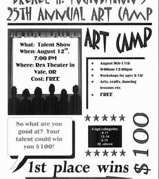 25th Annual Art Camp