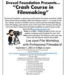Filmmaking Crash Course going Virtual