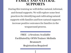 Family and Natural Supports