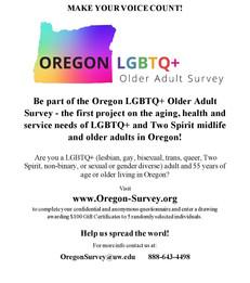 Oregon LGBTQ+ Older Adult Survey