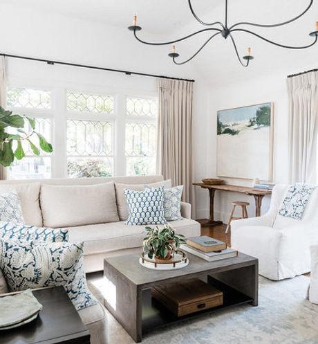 Custom Curtains Cozy Living Room