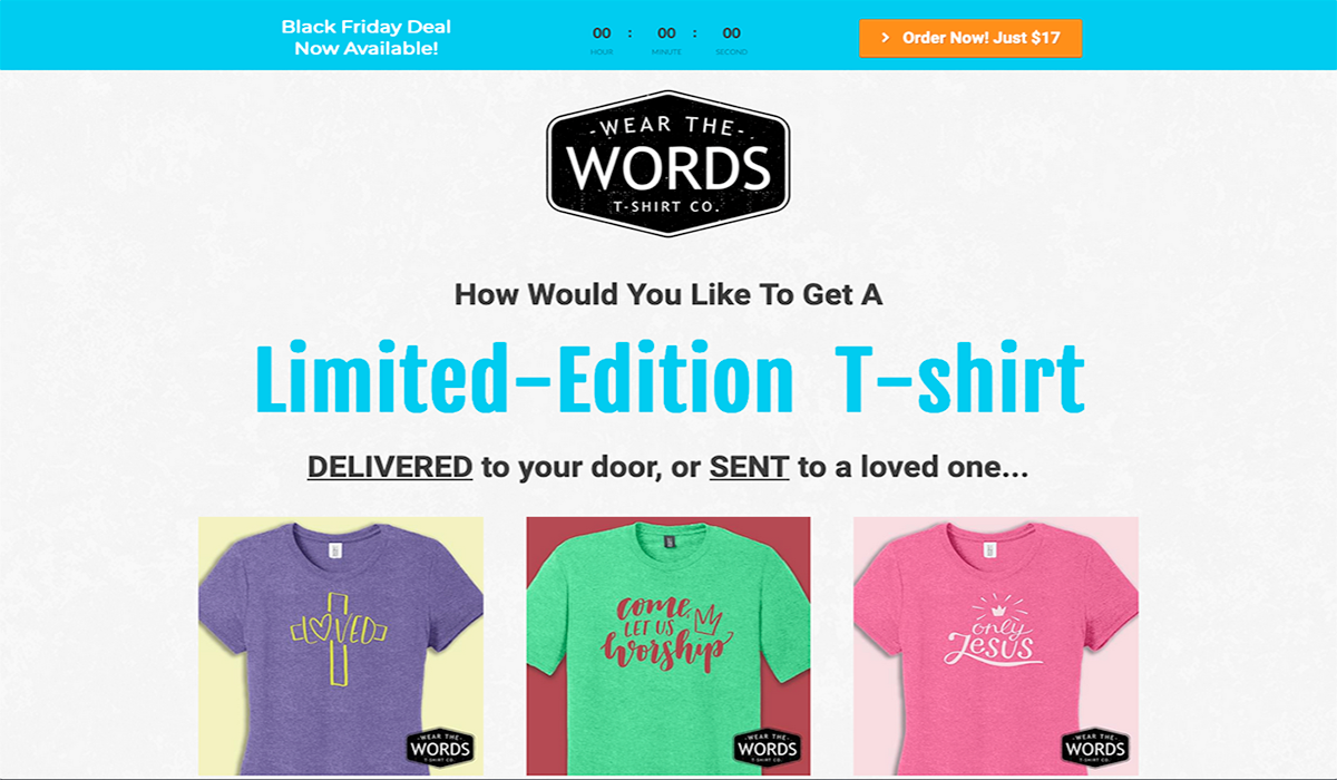 Wear The Words website