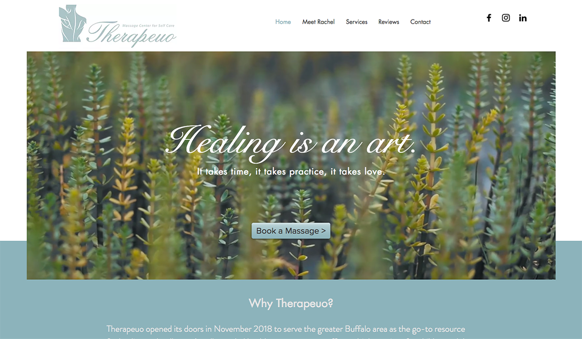 Therapeuo Massage Website