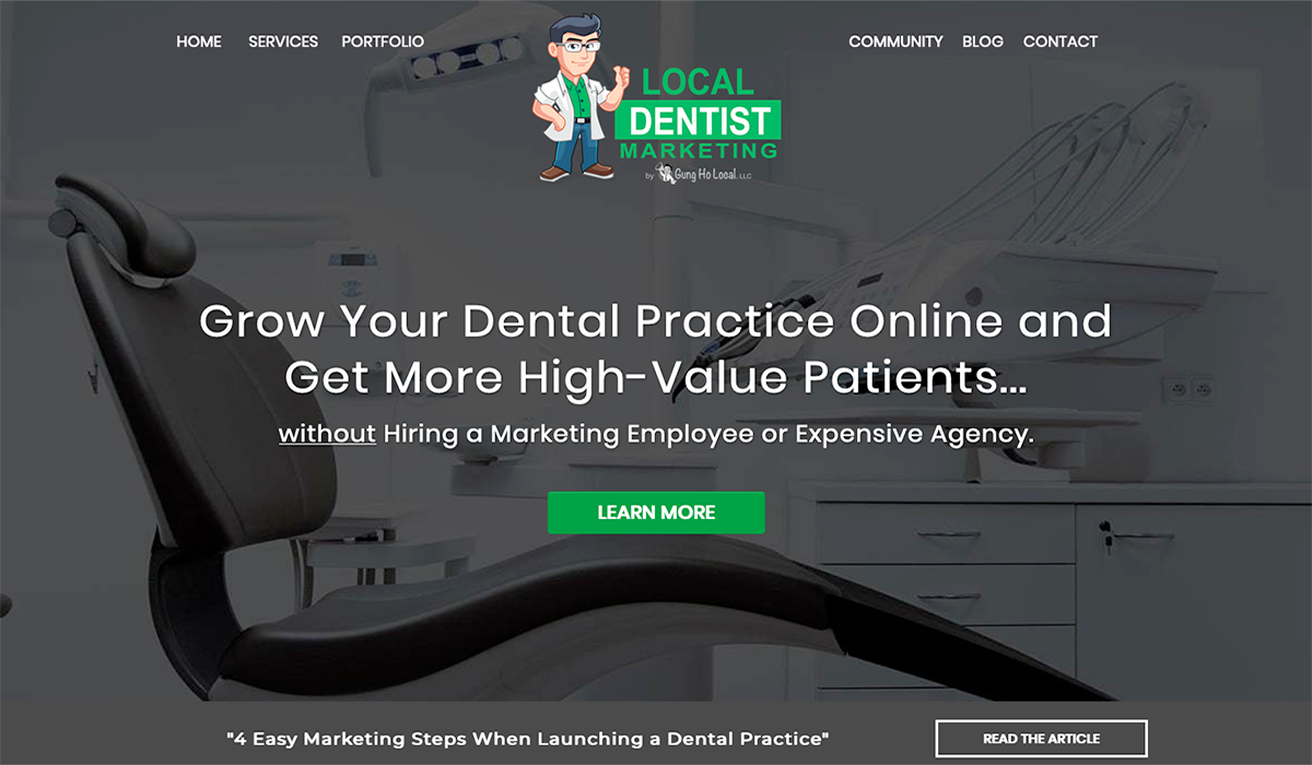 Local Dentist Marketing website