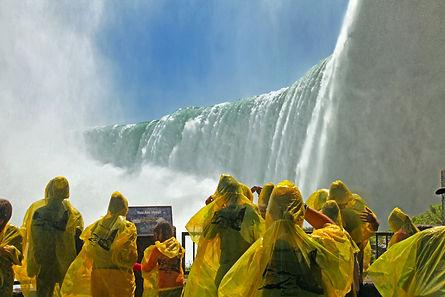 Tourists at the Horseshoe Fall, Niagara