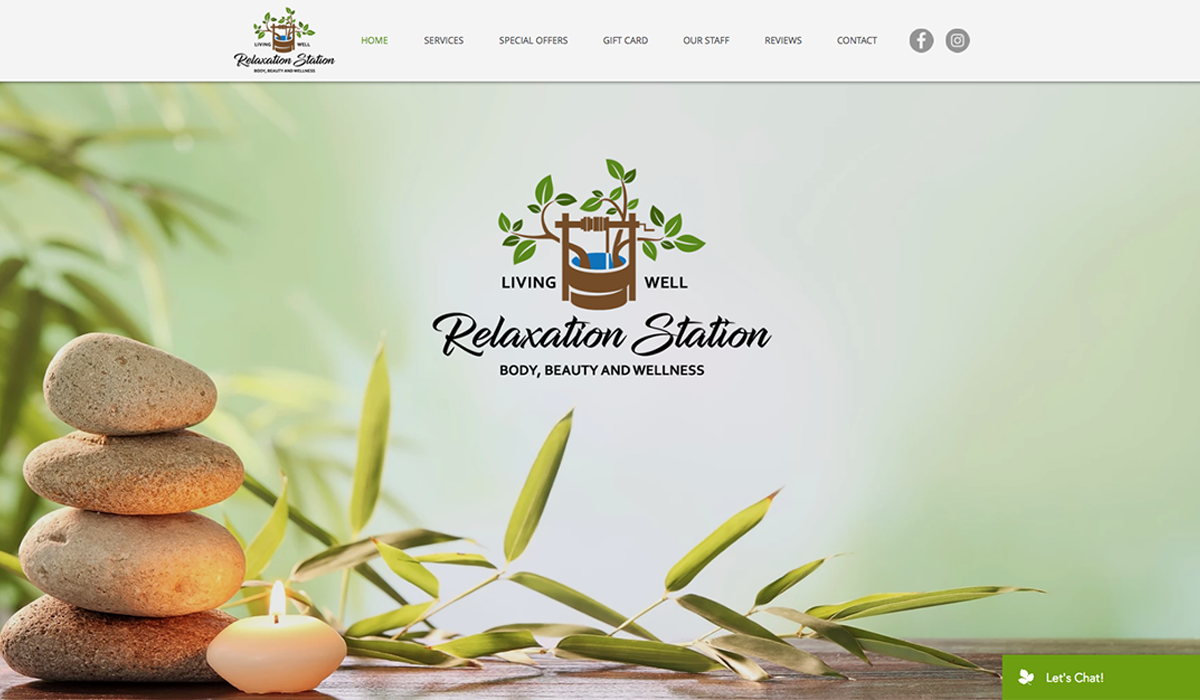 Relaxation Station website