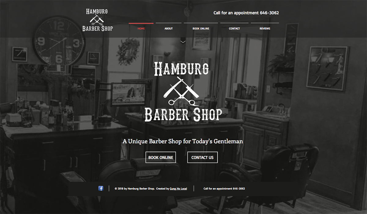 Hamburg Barber Shop website