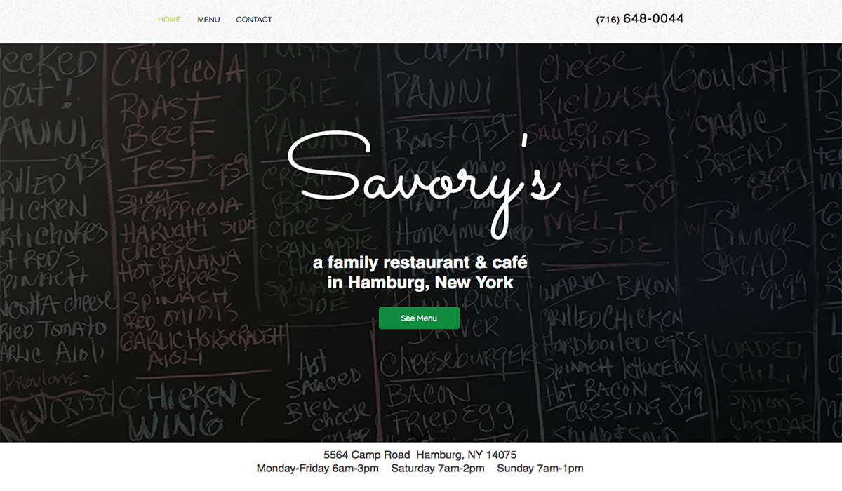 Savory's website