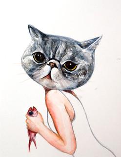 Human-shaped Cat