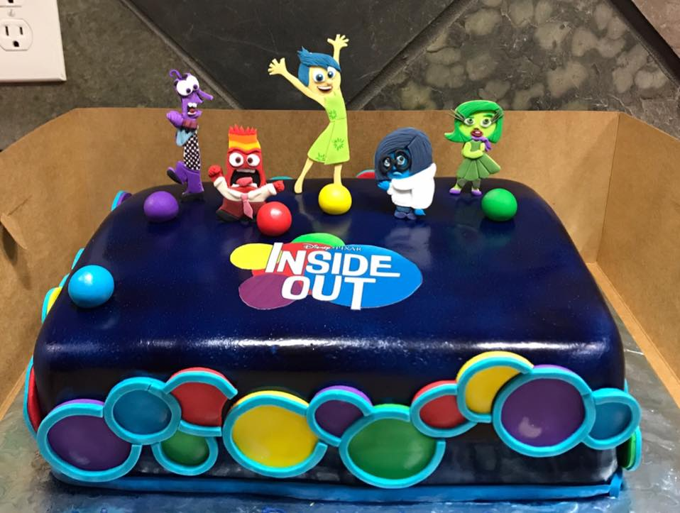 Disney Pixar Inside Out Themed Cake