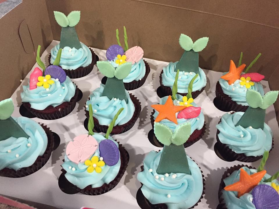 Mermaid Themed Cupcakes