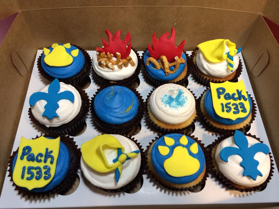 Cub Scout Themed Cupcakes