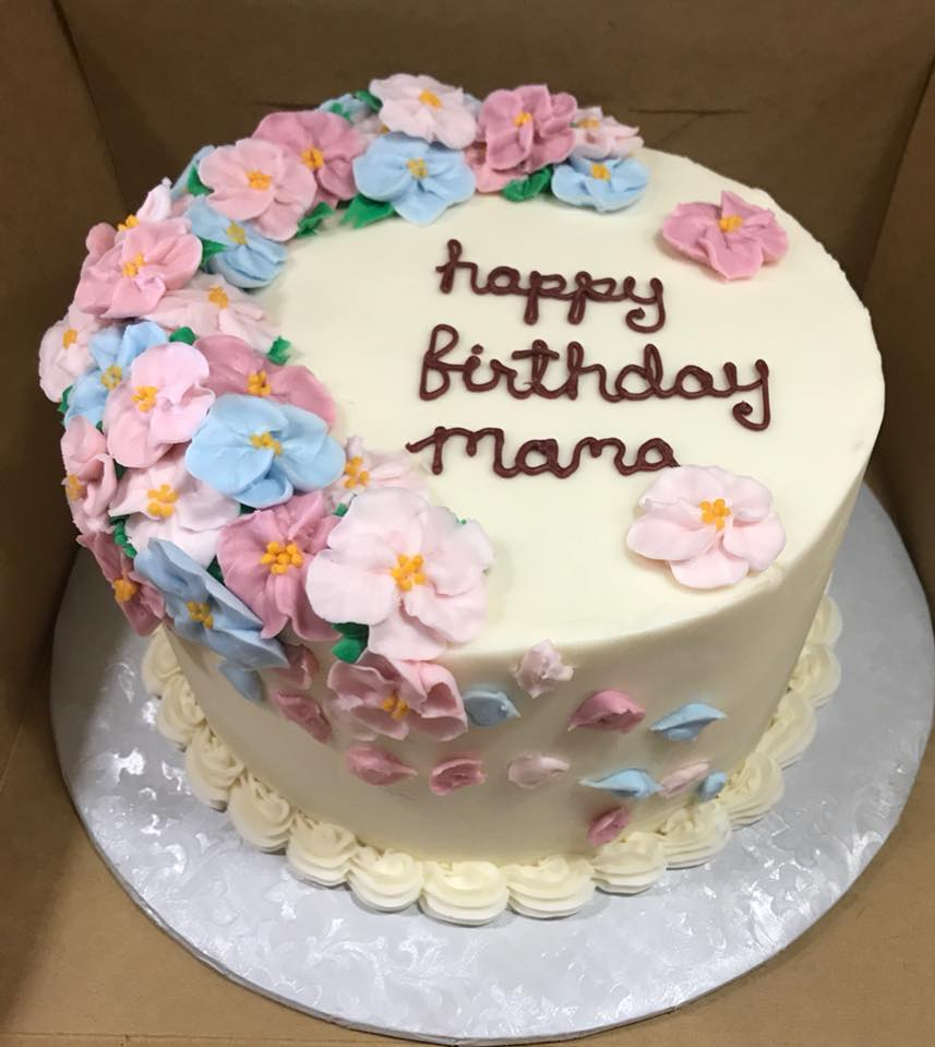 Custom Cake with Buttercream Flowers