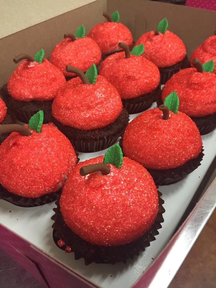Teacher Apple Cupcakes