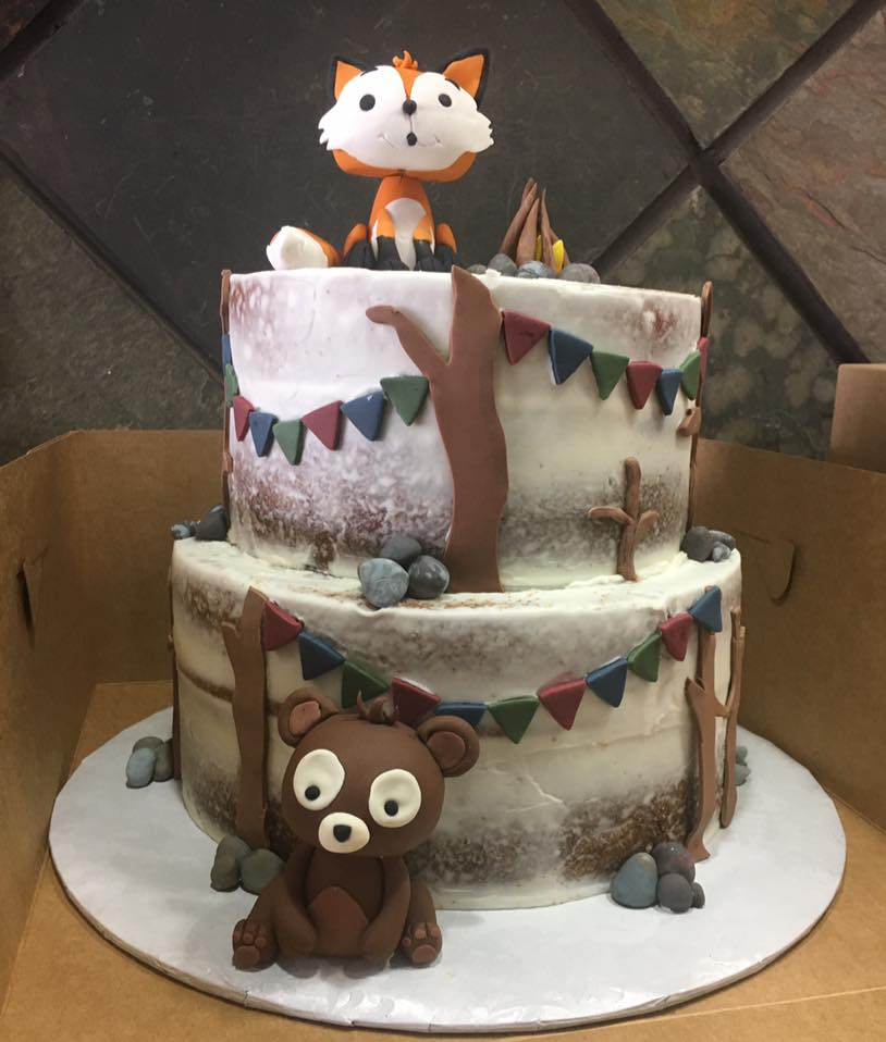 Woodland Animal Themed Cake