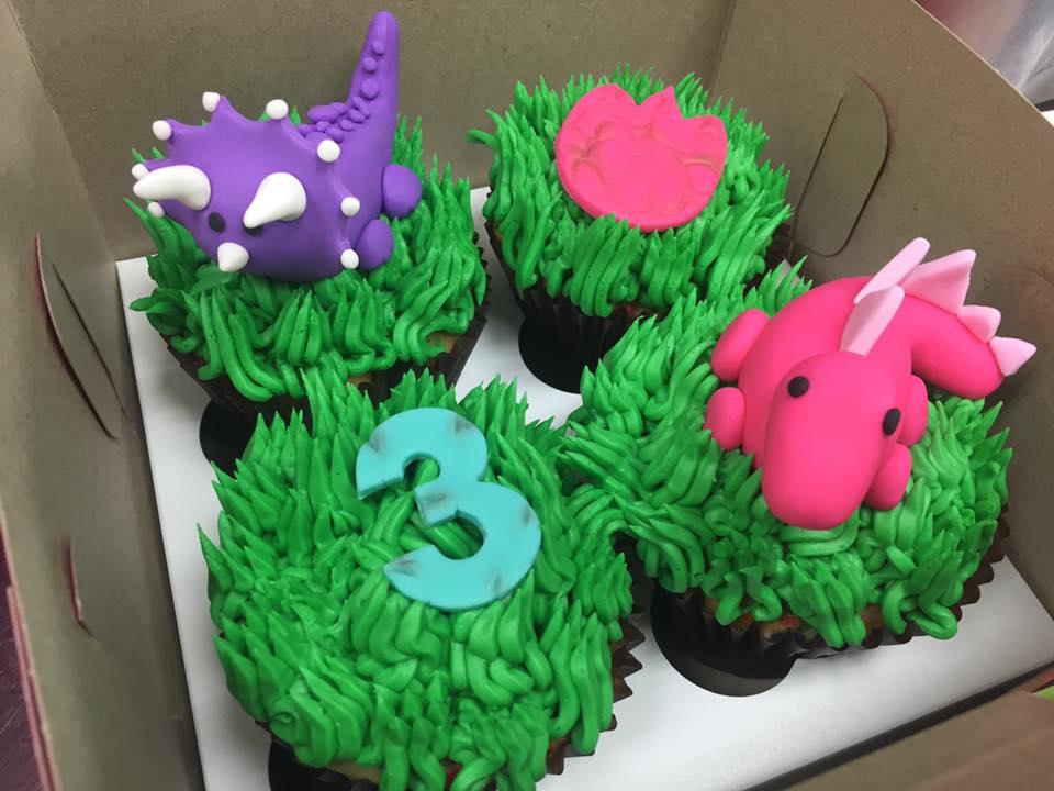 Dinosaur Themed Cupcakes