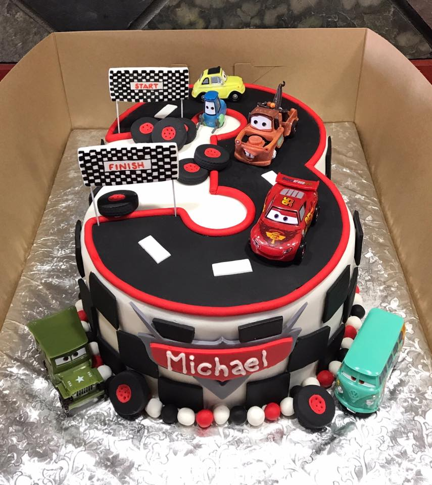 Disney Pixar Cars Themed Cake