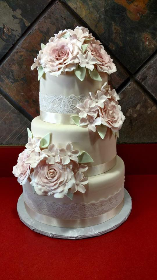Custom Cake with Fondant Flowers