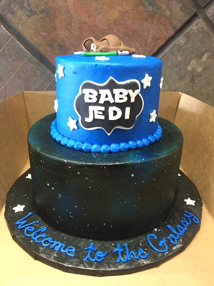 Star Wars Themed Baby Shower Cake