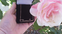 Choose Love Necklace with Rose