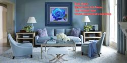 Blue Rose Watercolor by Bonnie Vent