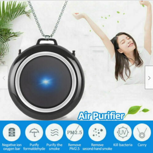Air Purifier Negative Ion Generator Portable Necklace - USB Rechargeable