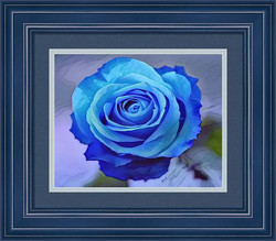 Blue Rose Watercolor by Bonnie Vent - Sample Frame