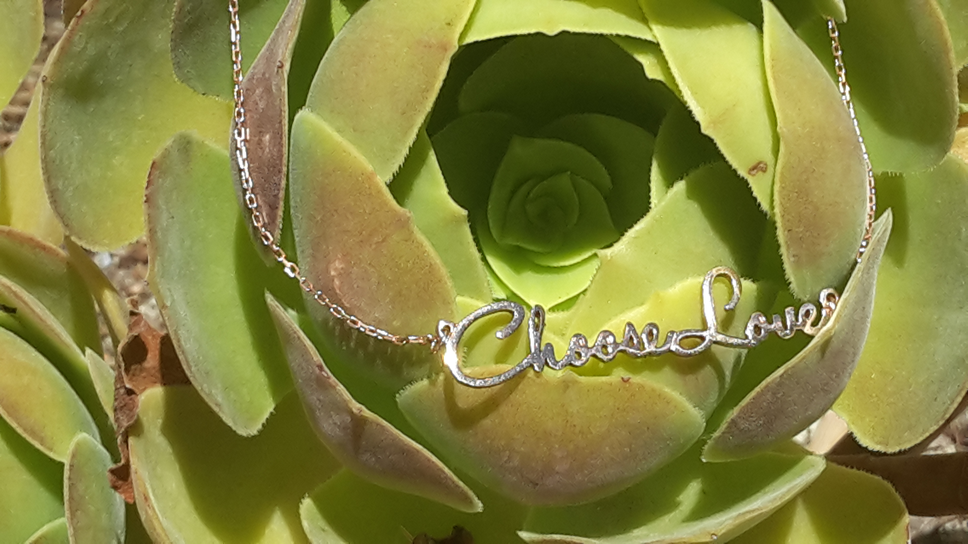 Choose Love Necklace - Green