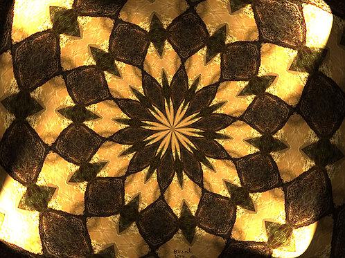 Golden Flower Spiritual Art signed by Bonnie Vent