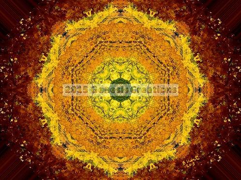 Autumn Sunrise Spiritual Art signed by Bonnie Vent