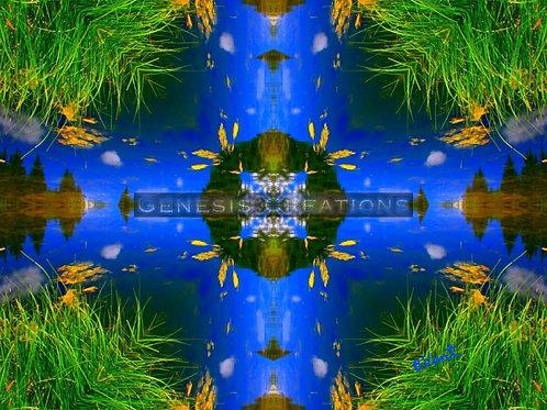 Pine Lake Mandala/Spiritual Art signed by Bonnie Vent