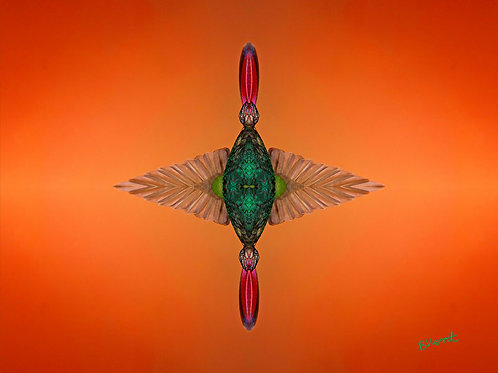 Hummingbird Jewel Spiritual Wall Art