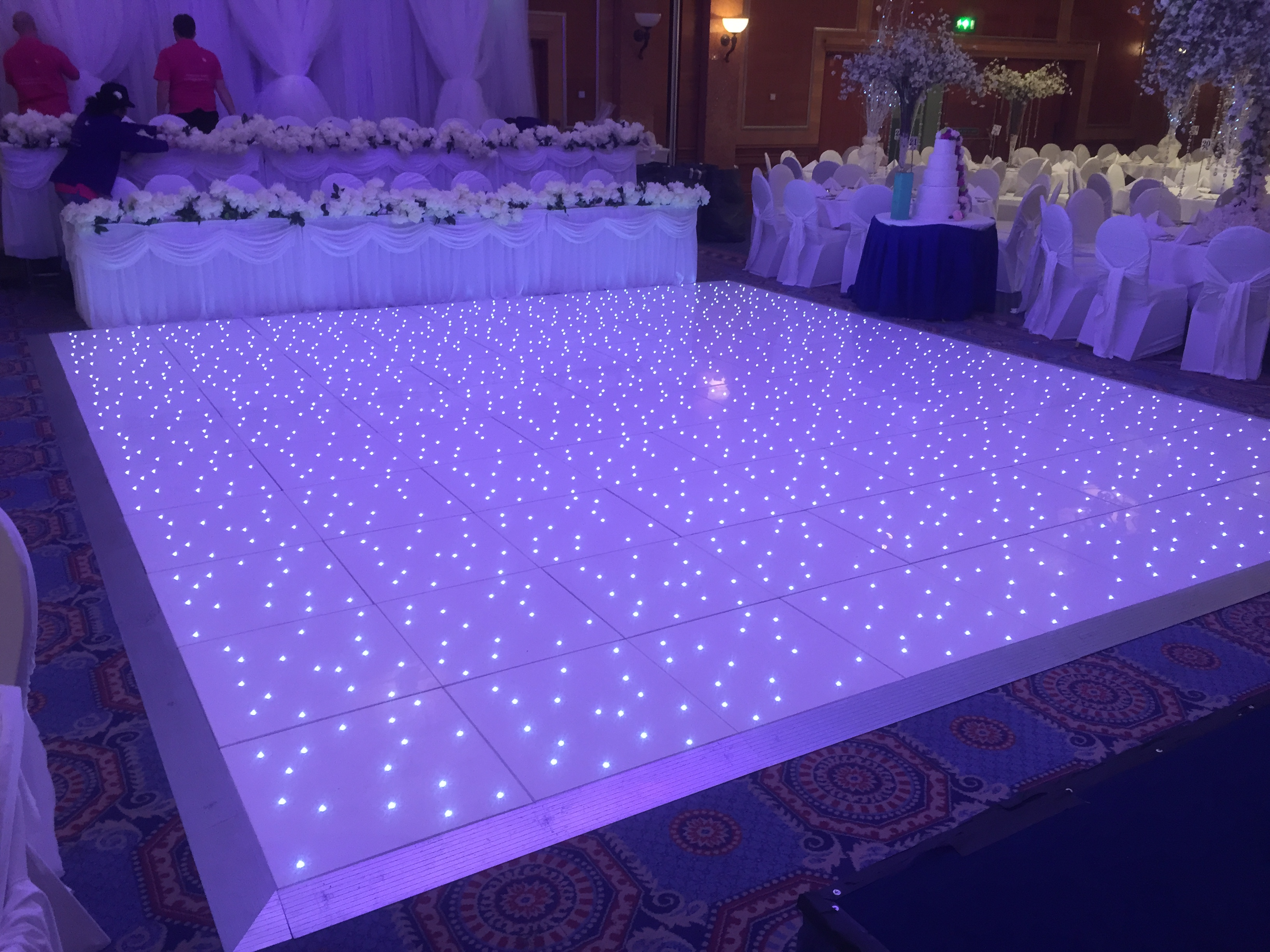 Large Lit up dance floor arrangement
